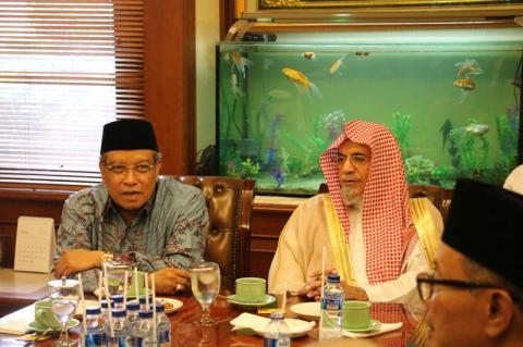 Imam Besar Masjidil Haram Kunjungi PBNU