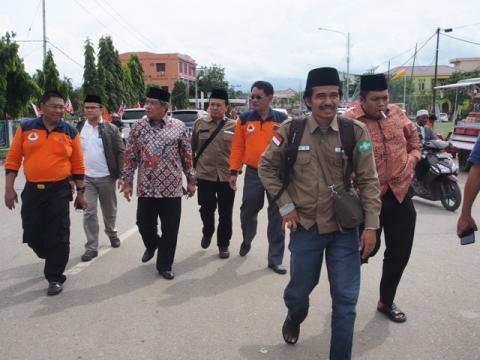Kunjungan PBNU ke Lokasi Pengusian Warga Terdampak Gempa Aceh