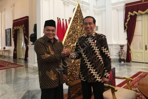 Pertemuan Ketum Pagar Nusa dengan Presiden Jokowi