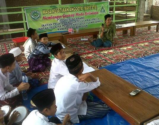 IPNU-IPPNU Grobogan Rekrut Anggota Baru di Pesantren