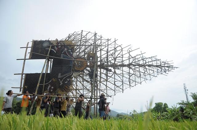 Gunungan Wayang 11 Meter Hiasi Pameran Wayang di Kaliopak