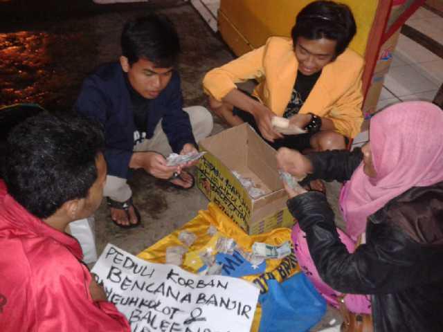PMII FISIP UIN Gunung Jati Galang Dana untuk Banjir Bandung