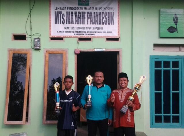MTs Ma'arif Fajaresuk Raih 3 Piala Drumben