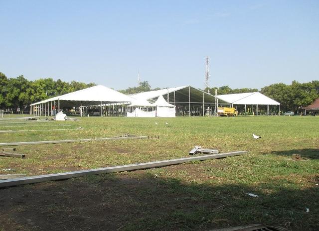 Pembangunan Tenda Muktamar NU Dimulai