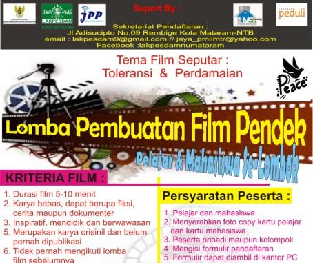Lakpesdam NU Mataram Gelar Lomba Film Pendek Bagi Pelajar-Mahasiswa