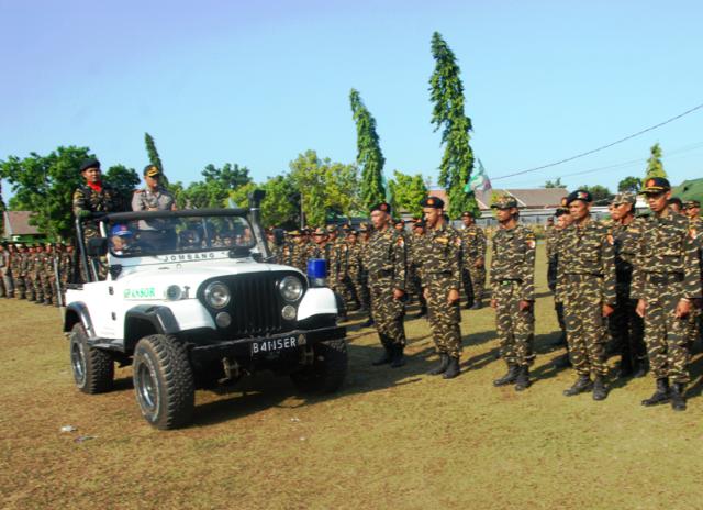 Kapolres Jombang Pimpin Apel Resolusi Jihad 500 Personel Banser