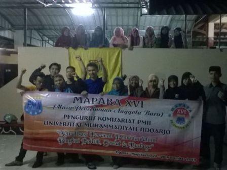 PMII Universitas Muhammadiyah Sidoarjo Kembali Gelar Mapaba Mandiri