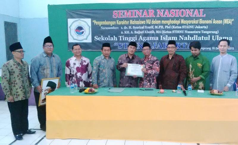 Tingkatkan Mutu Akademik, STISNU Nusantara Gandeng STAINU Jakarta