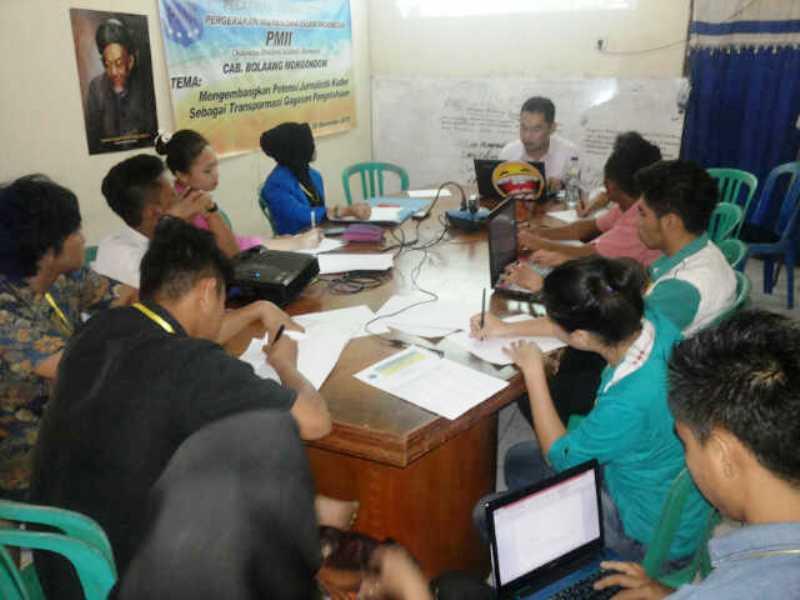 Kembangkan Potensi Kader, PMII Bolmong Gelar Pelatihan Jurnalistik