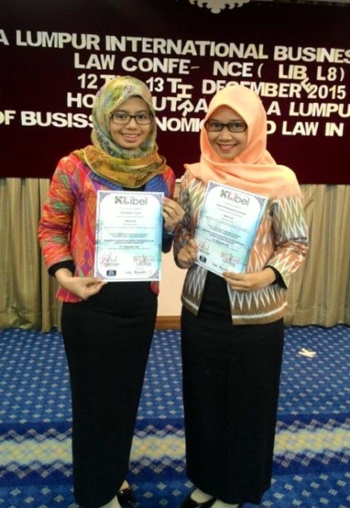 Dua Kader PMII UNJ Presentasi Daya Saing Global di Malaysia