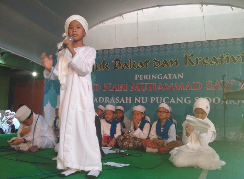 Begini Perayaan Maulid Nabi di Sekolah NU Sidoarjo