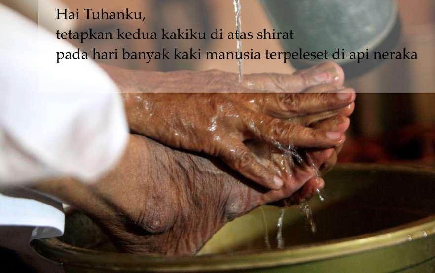 Doa Basuh Kaki Kanan saat Wudhu