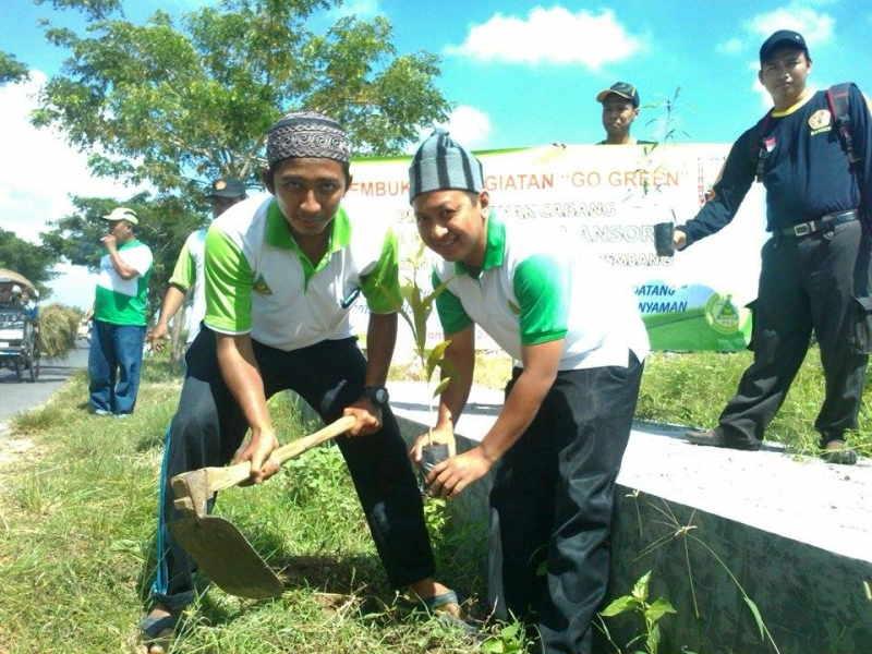 Antisipasi Pemanasan Global, GP Ansor Pamotan Tanam Seribu Pohon