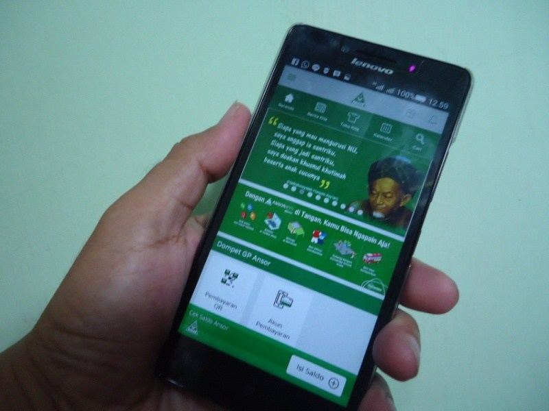Kader Ansor Manfaatkan Aplikasi Android