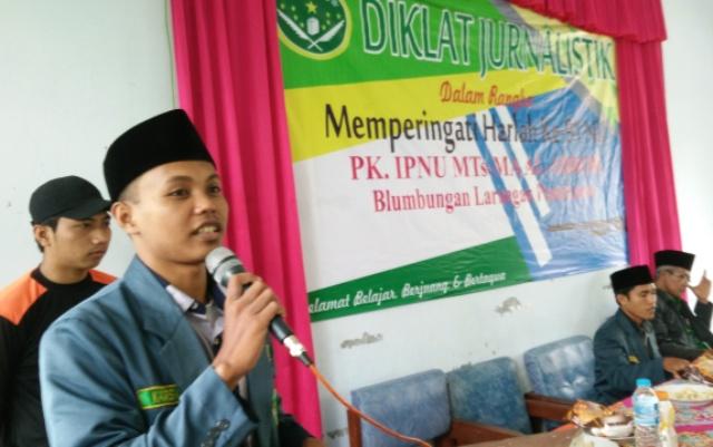 Tangkal Hoax, IPNU Pamekasan Ajak Pelajar Jadi Wartawan