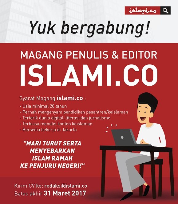 Islami.co Buka Program Magang bagi Penulis dan Editor