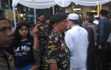 Banser Ikut Atur Ketertiban di Istiqlal