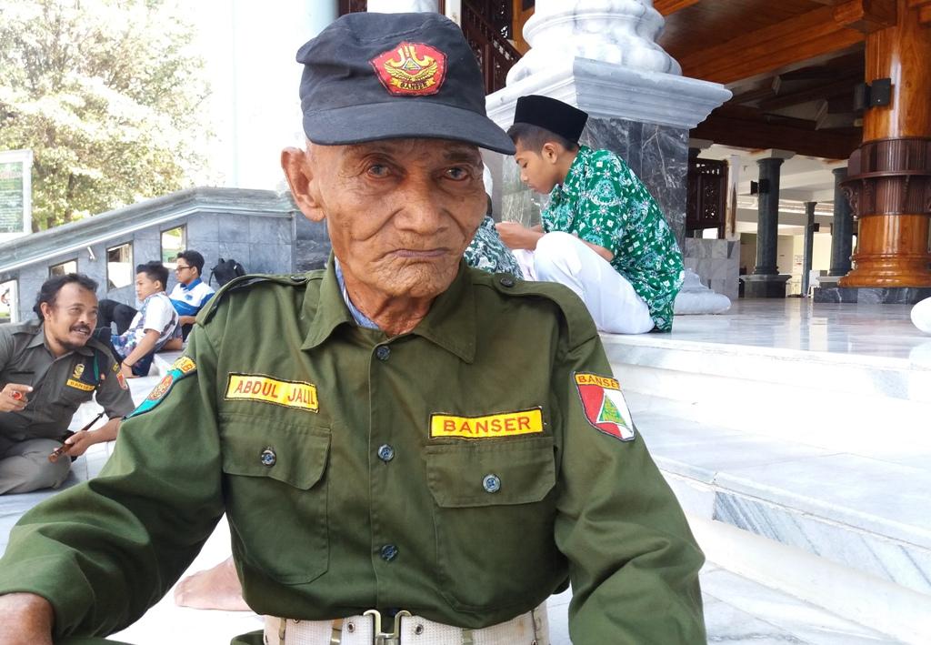 Pernah Ikut PETA, Banser Abdul Jalil Tertua di Rembang
