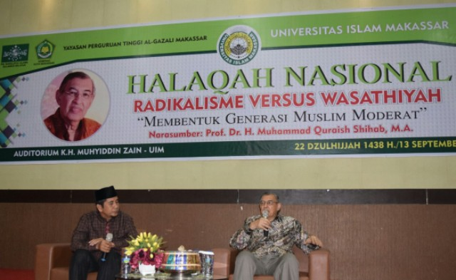 Quraish Shihab Isi Halaqah Nasional Islam Moderat di UIM