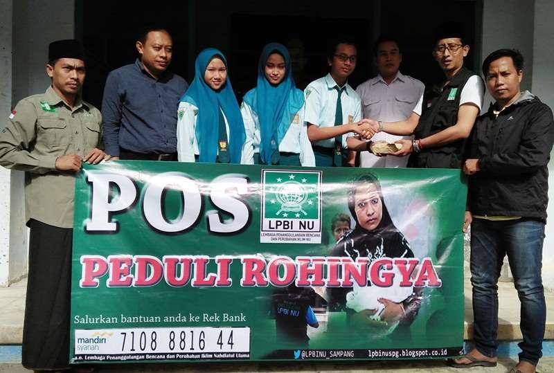 Melalui LPBINU, Siswa SMP Negeri 1 Sampang Donasi 5 Juta untuk Rohingya