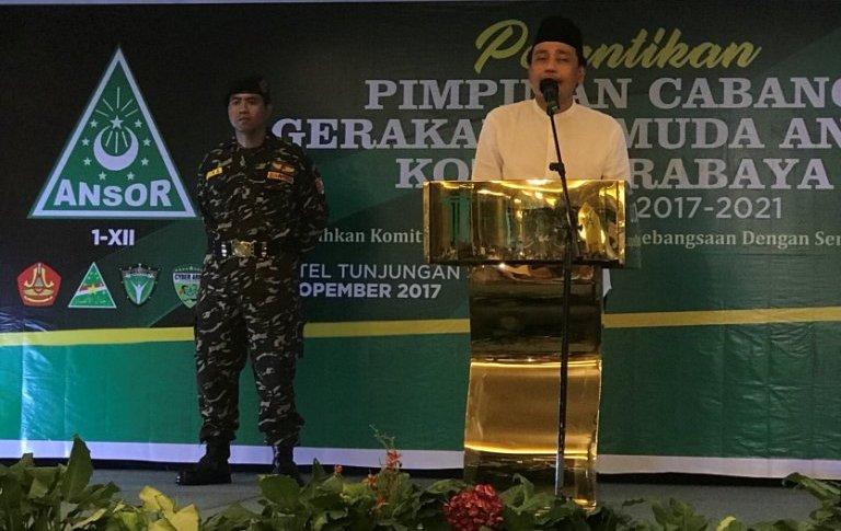 Pesan Ketua PWNU Jatim untuk GP Ansor Kota Surabaya