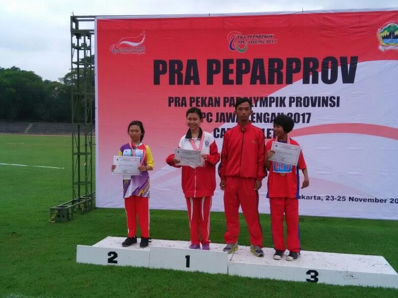 Mahasiswi STAINU Temanggung Juara I Lomba Lari Pra-Peparprov Jateng 2017