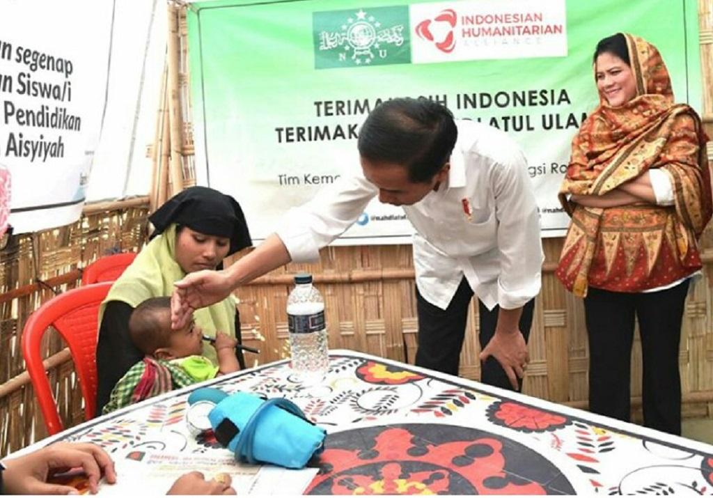 Presiden Jokowi Tinjau Situasi Etnis Rohingya di Kamp Pengungsian