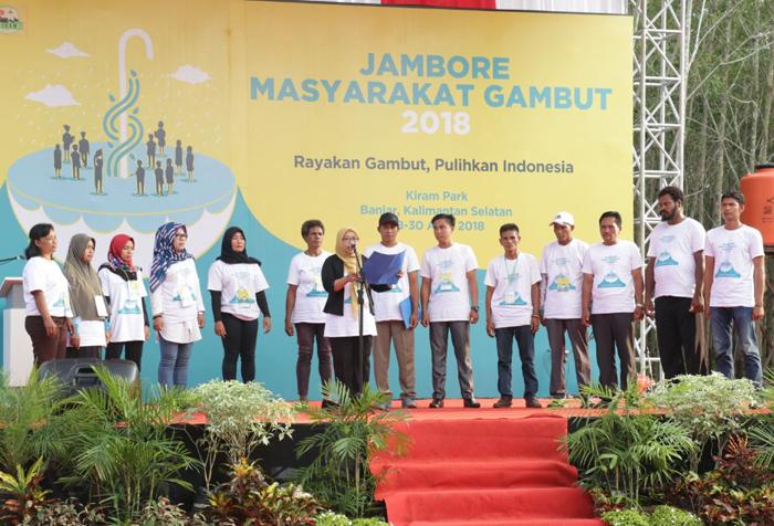 Tegaskan Komitmen Pelihara Gambut, Masyarakat Buat Deklarasi Banjar