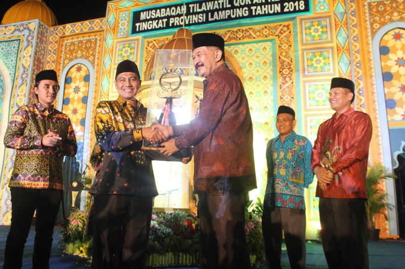 Kabupaten Tanggamus Pertahankan Juara Umum MTQ Provinsi Lampung