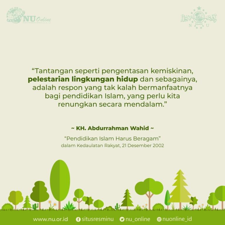 Masalah Pelestarian Lingkungan Bagian dari Pendidikan Islam