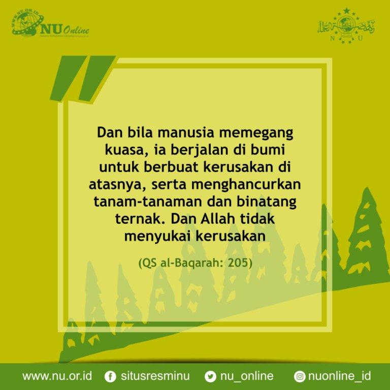 Kecenderungan Manusia untuk Merusak Lingkungan