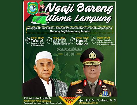 Kapolda Akan Ngaji ke Ulama NU Lampung