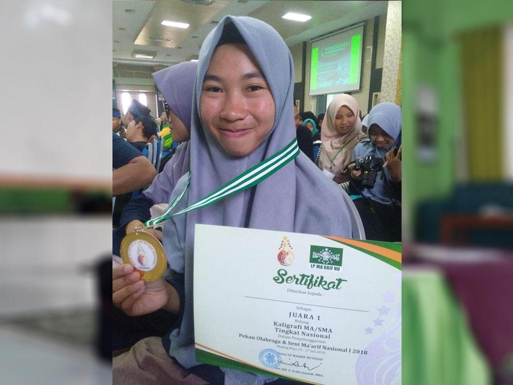 Siswi Ma Ma Arif Di Pringsewu Raih Medali Emas Ajang