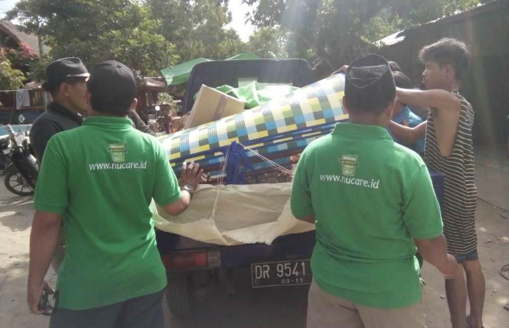 NU Care NTB Turun ke Lokasi Gempa Lombok Barat