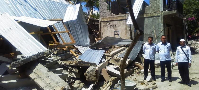 Kemnaker Turut Bantu Warga Terdampak Gempa Lombok