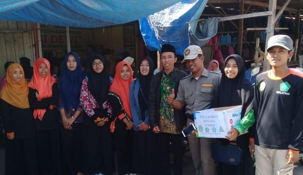 Pelajar NU Kraksaan Kumpulkan Dana untuk Lombok