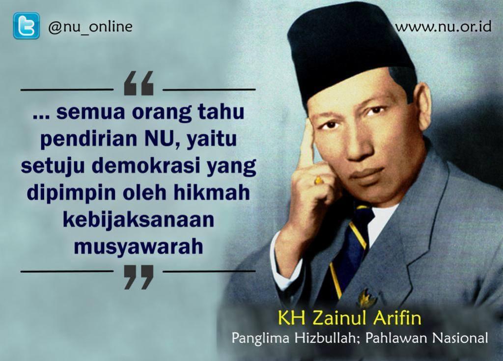 Tokoh NU KH Zainul Arifin dan Kemerdekaan Indonesia
