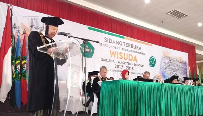 Pidato Pengukuhan Guru Besar KH Ma'ruf Amin di UNINUS Bandung
