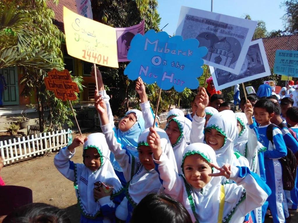 Madrasah Ini Syiarkan Tahun Baru Islam Dengan Karnaval