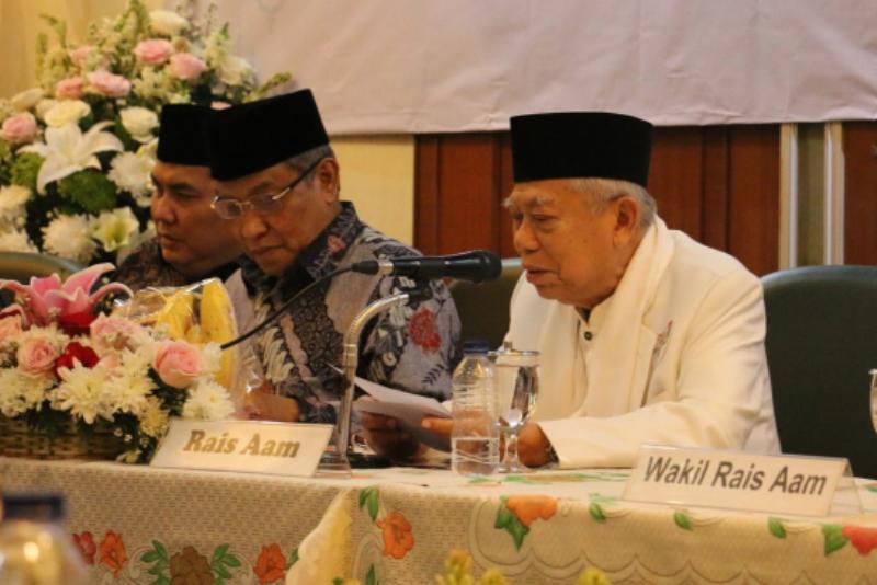 Isi Lengkap Pidato Pengunduran Diri KH Ma'ruf Amin dari Rais Aam