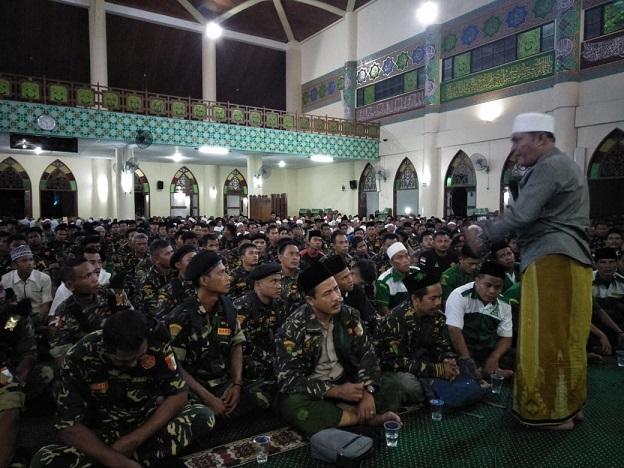 Ribuan Banser Berzikir di Islamic Center Siak Riau
