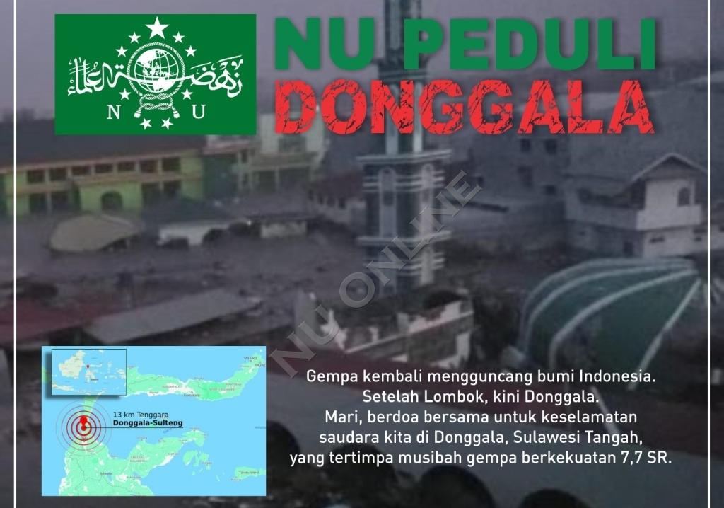 Gempa Donggala, NU Peduli Galang Bantuan untuk Warga Terdampak