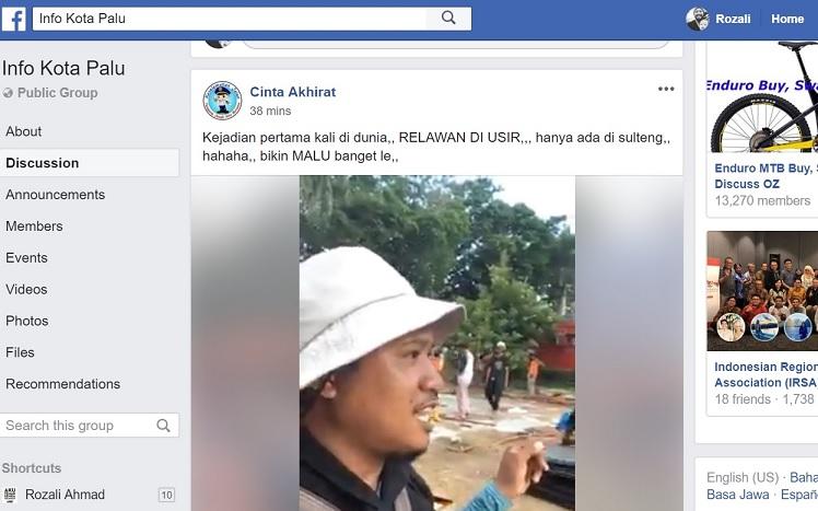 Netizen Palu Kecam Pengusiran Terhadap Relawan