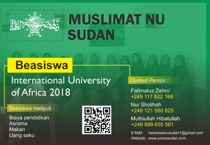 Muslimat NU Sudan Buka Jalur Beasiswa untuk Santri Putri