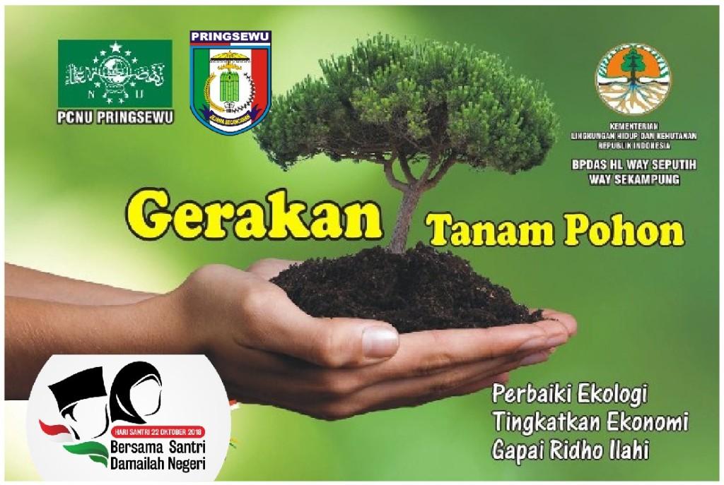 Peduli Lingkungan, Santri Pringsewu Tanam 30.000 Bibit Pohon