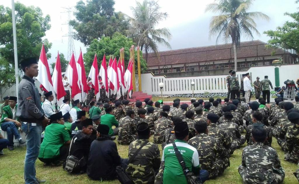 Kirab Satu Negeri GP Ansor Tiba di Tasikmalaya