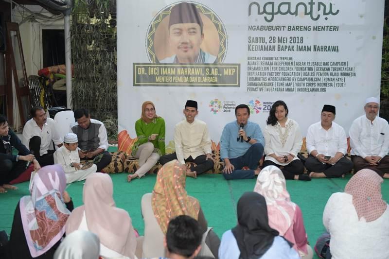 Ngabuburit Bareng Menteri, Kemenpora Ingin Sinergi dengan Komunitas
