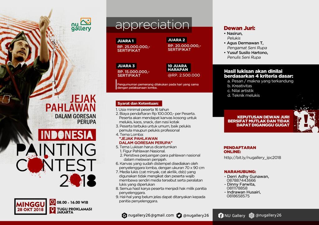 Sambut Hari Pahlawan Nasional, NU Gallery Buka Pendaftaran Kompetisi Lukis