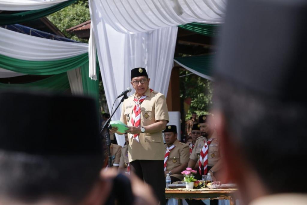 Dibuka Menag, Deklarasi Cinta NKRI Bergema di Perkemahan Pramuka Santri Nusantara