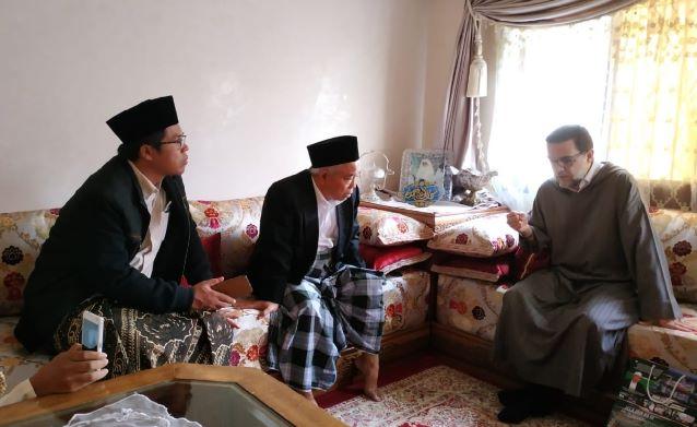 Ketua Pergunu Silaturahim dengan Syeikh Abd al Munim al Ghumariy Maroko